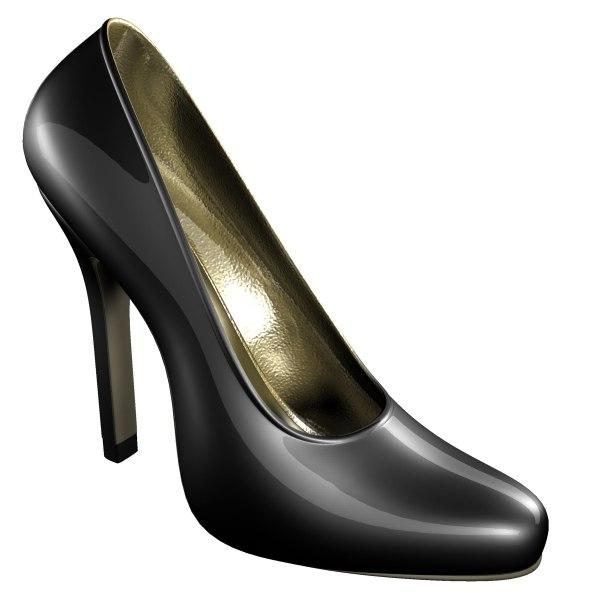 3dsmax female heel shoe