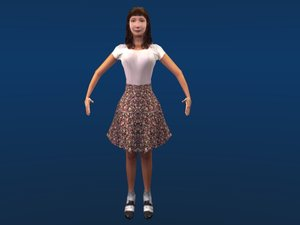 3ds max female girl woman