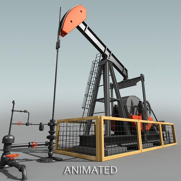 3dsmax oil pump jack