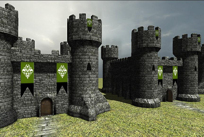 3dsmax castle interior