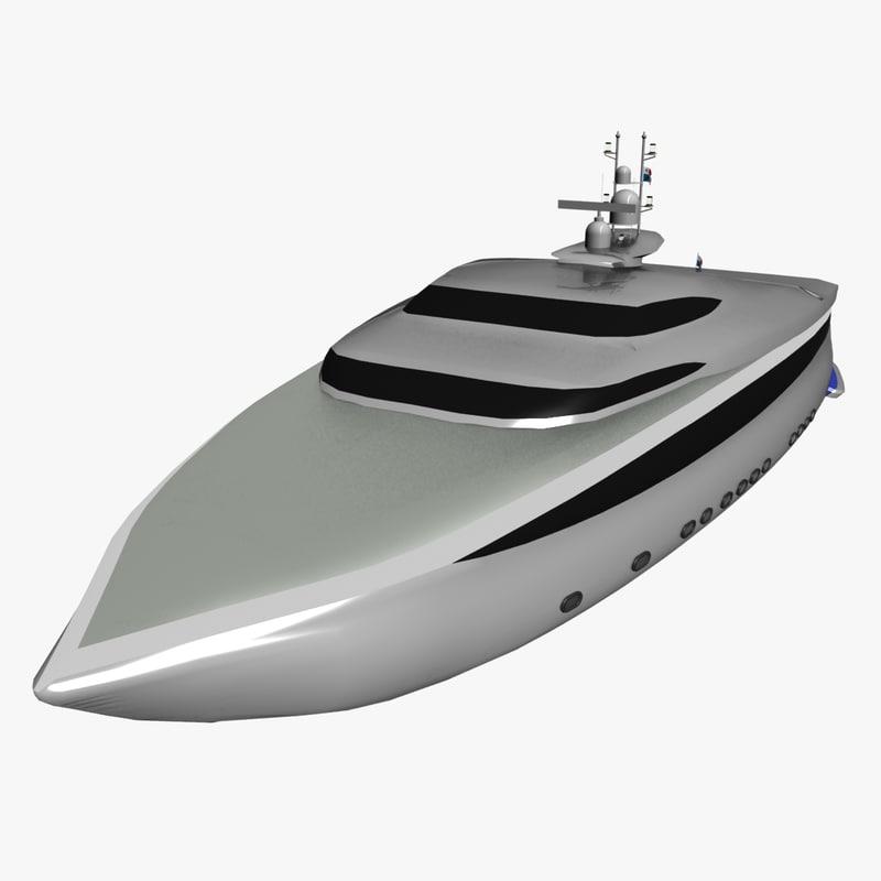 family yacht 3d model
