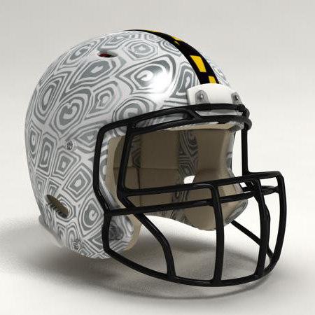 football helmet 3d obj