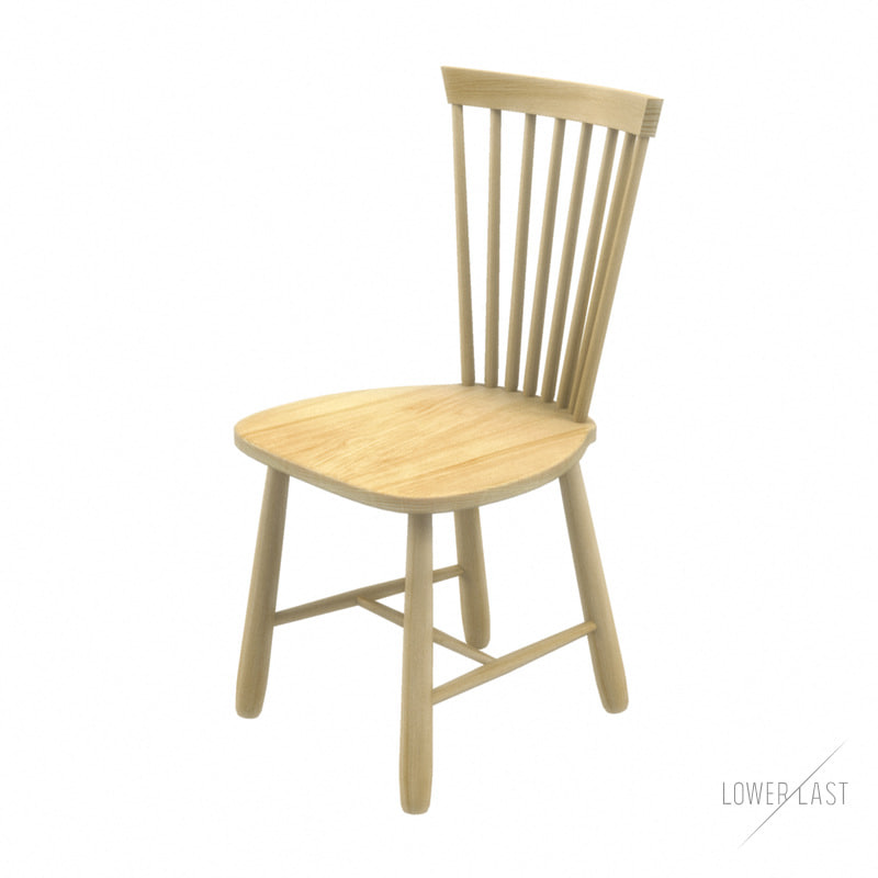 3d Swedish Chair Model