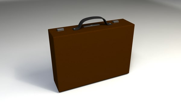 3d leather briefcase model