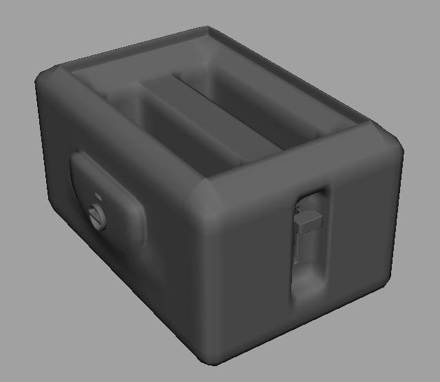 toaster toast 3d obj