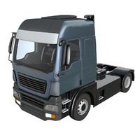 generic tractor unit 3d model