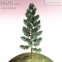 evergreen green tree 3ds