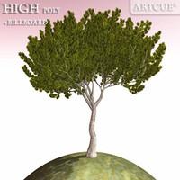 tree high-poly billboard dxf