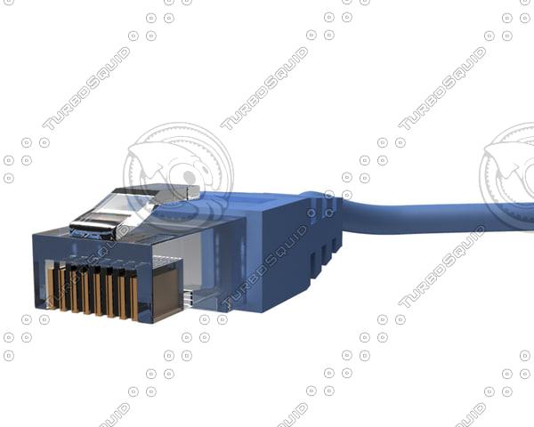 lan connector 3d model