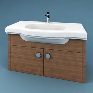 3d max bathroom sink