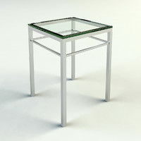 CHROME & GLASS END TABLE