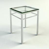 3d chrome glass end table