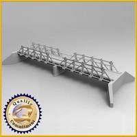 bridge wood wooden 3d max