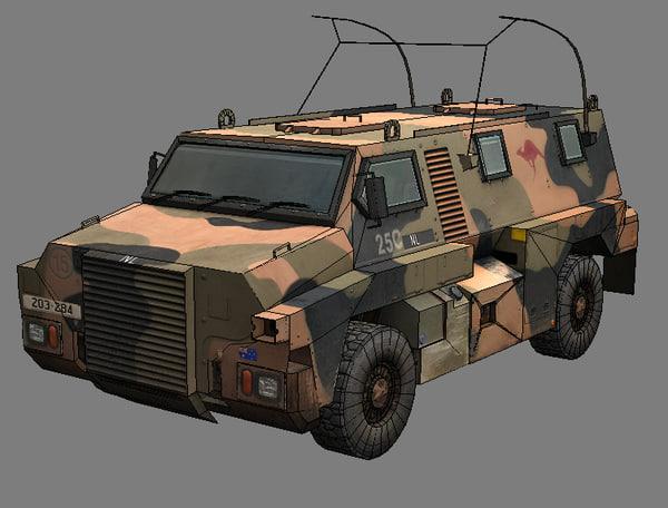 3dsmax bushmaster armored car