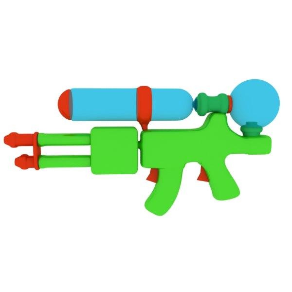 water gun toy 3d max