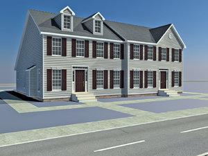 row houses 3d ma