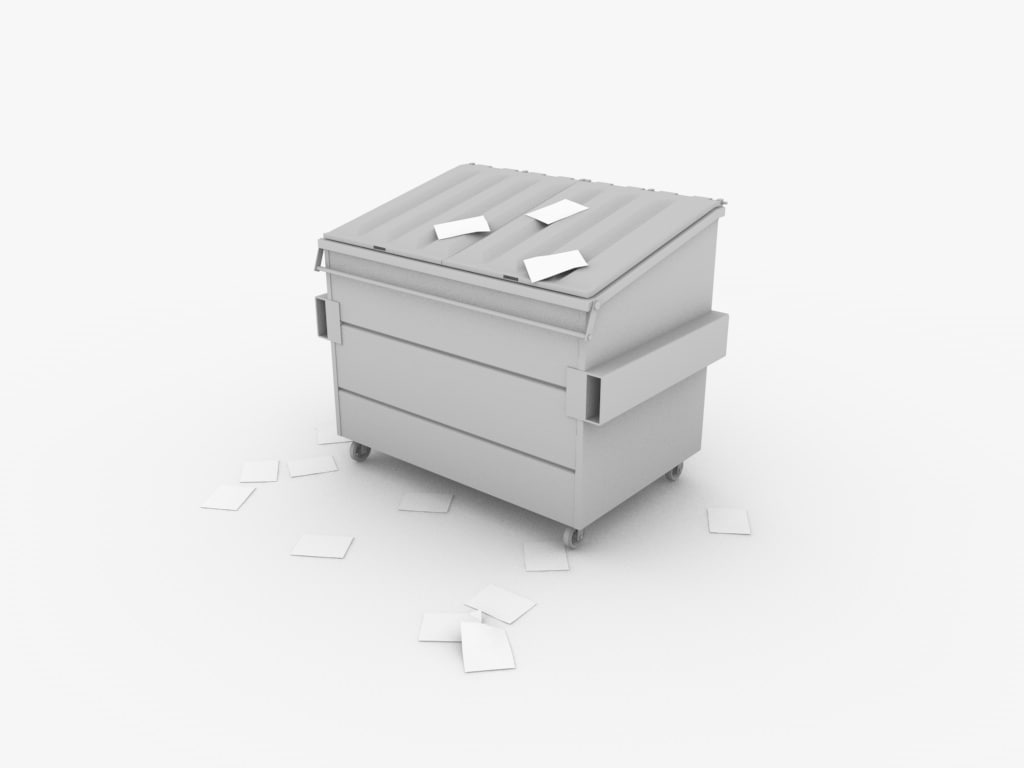 3d dumpster lids garbage model
