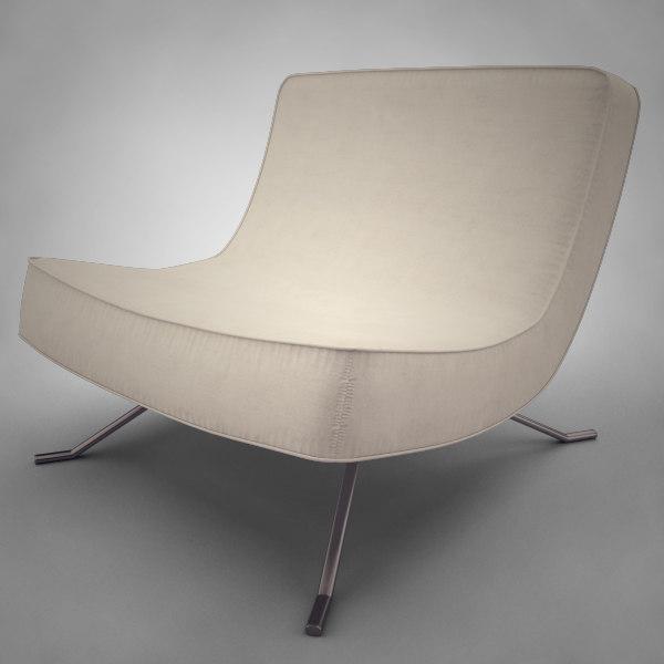 modern lounge chair 3d 3ds