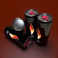 burn energy drink 3d obj