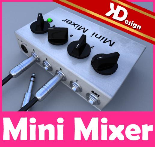 3d model mini mixer