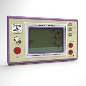 device watch snoopy tennis 3d model