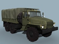 3d model of russian military truck ural-4320