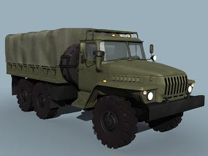 3d model of russian military truck ural-4320