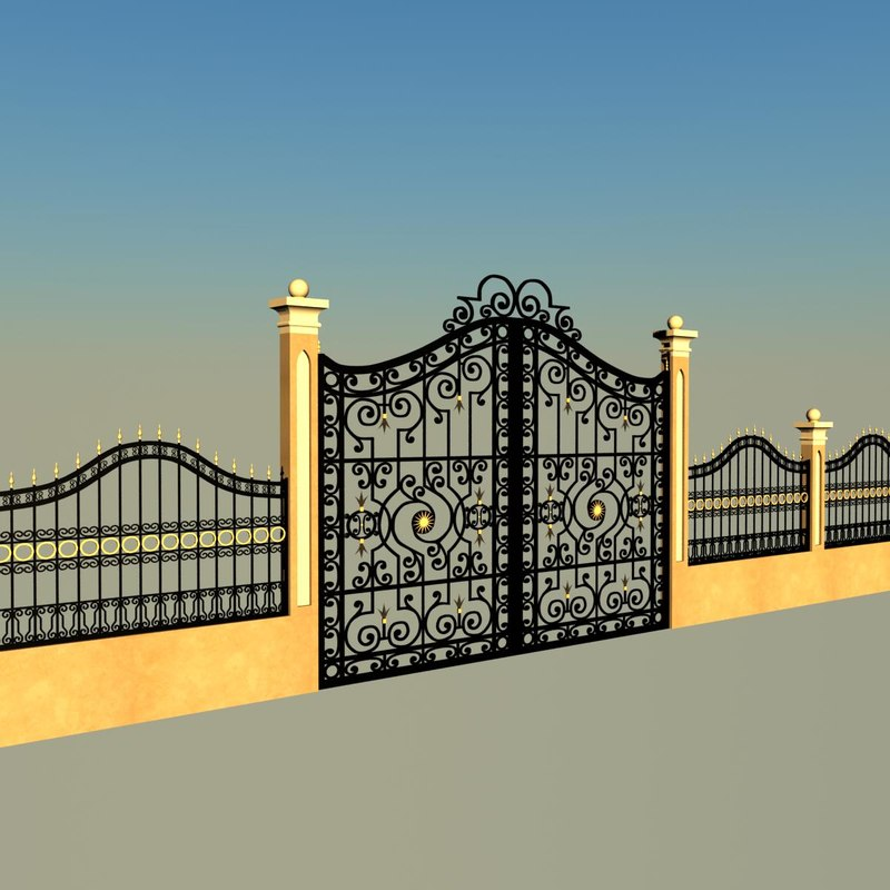 3d iron gate fence