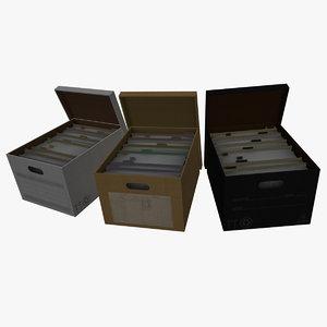filing box obj