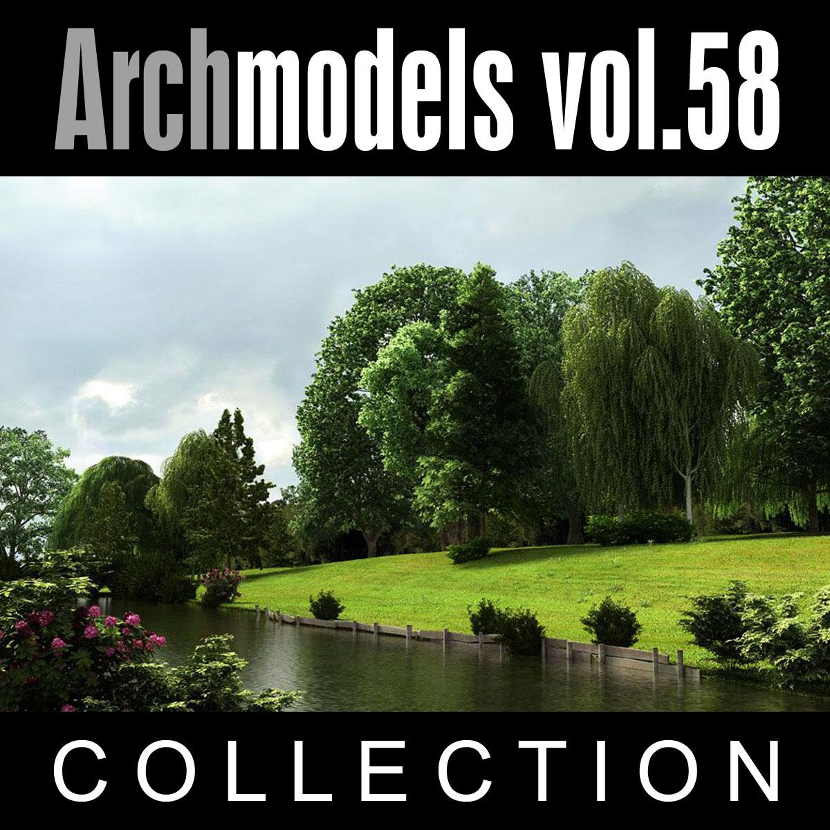 3d archmodels vol 58 trees model