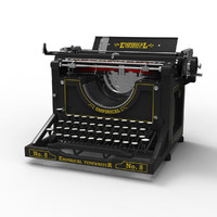 antique typewriter 3ds