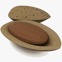 3d almond modelled