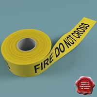 3d barricade tape model