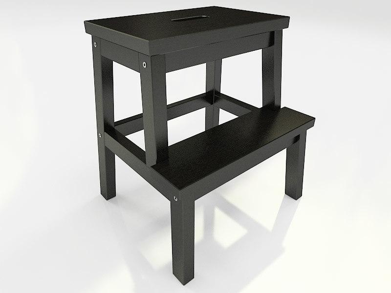 3d ikea furniture bekvam step model