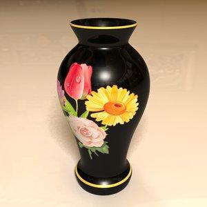3d decorative black vase model