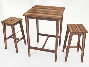 3ds max ikea furniture table bjorkudden