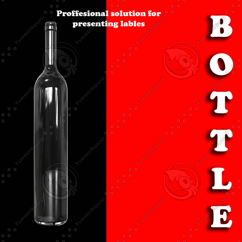 bottle glass 3d 3ds