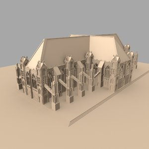 gothic building church cathedral 3d fbx