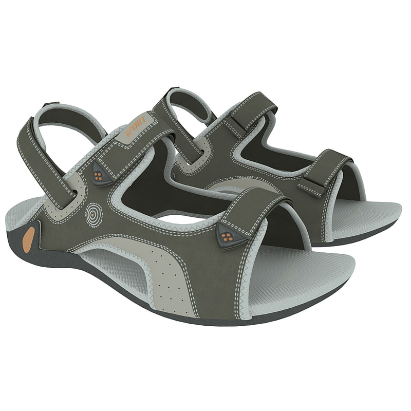 3dsmax childrens sandals kapika