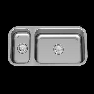 3d modern sink kitchen