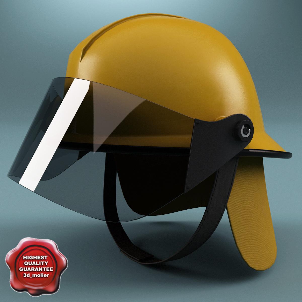 firefighter helmet v3 3d ma