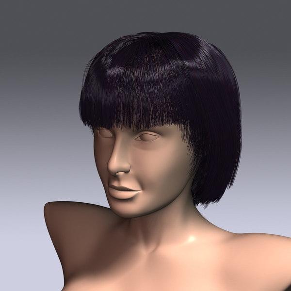 3d model hair virtual