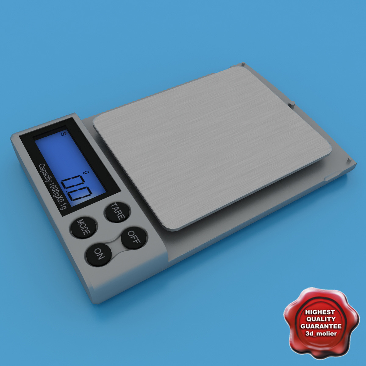 3d model of jewelry scales v2