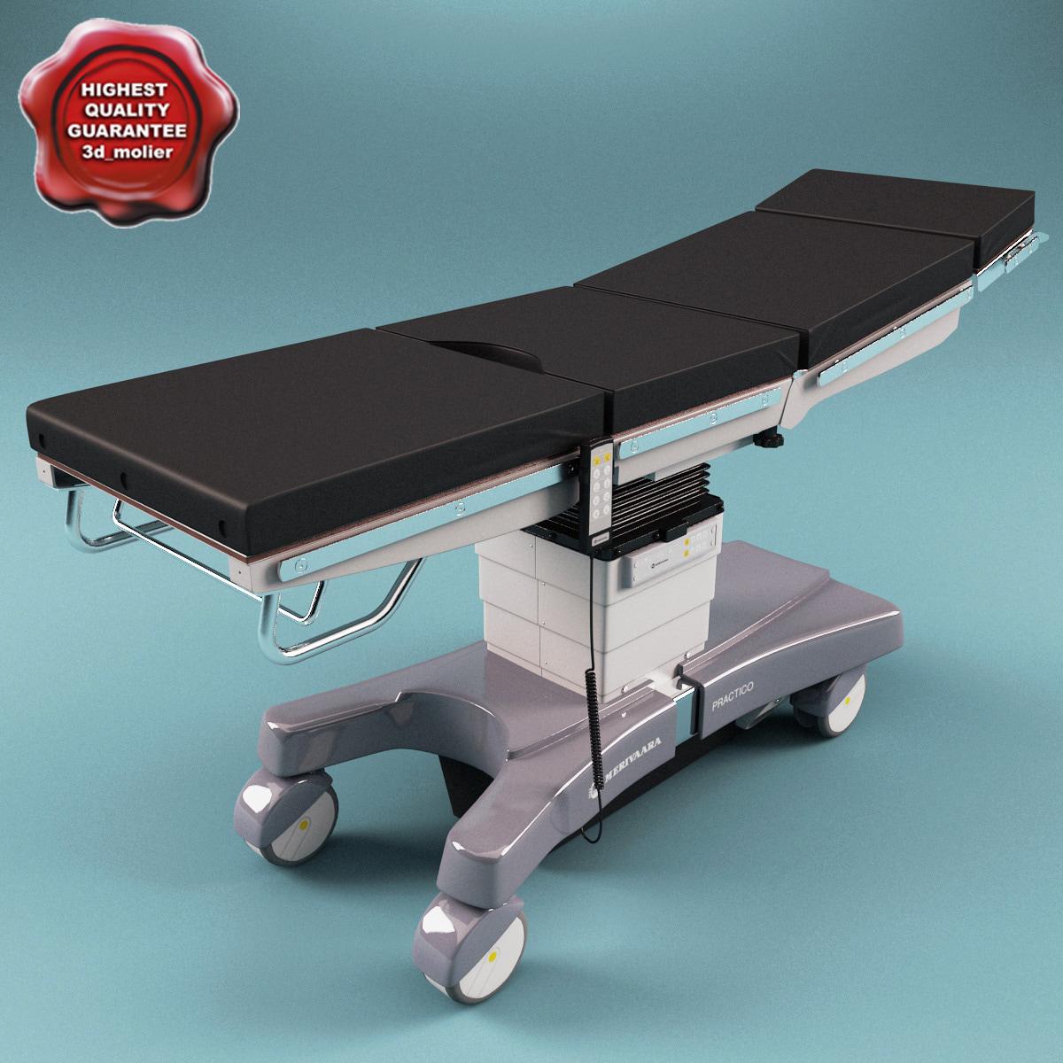 modular operating table merivaara 3d xsi