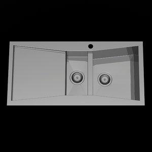 modern sink kitchen 3d model