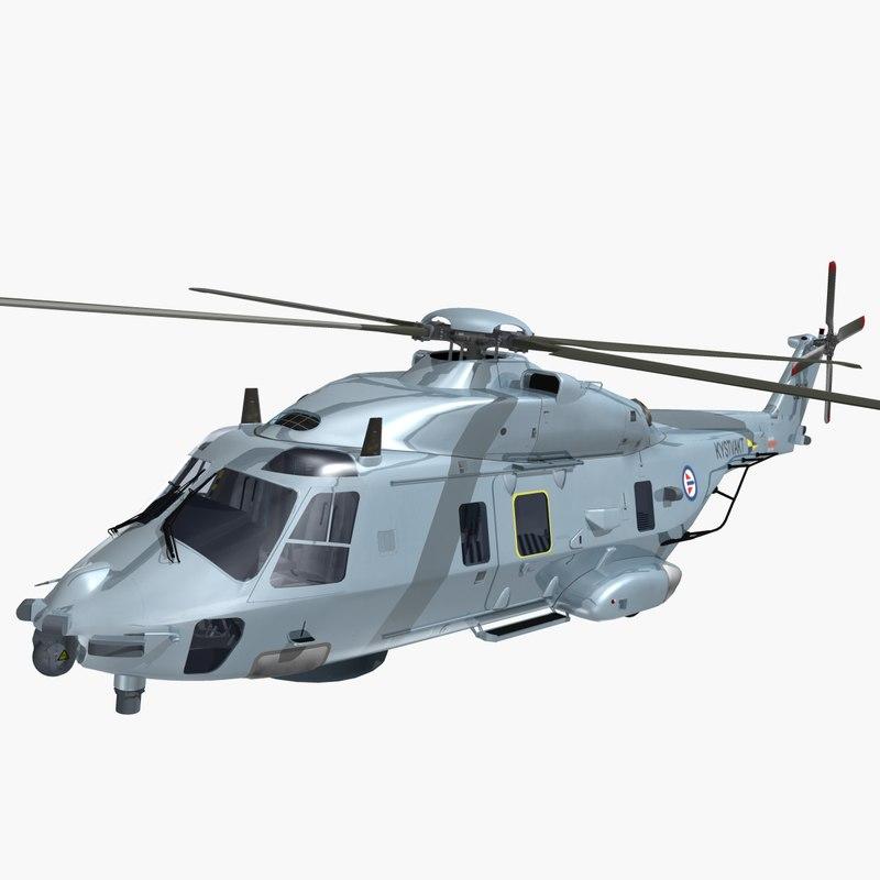 nhindustries helicopter royal norwegian 3ds