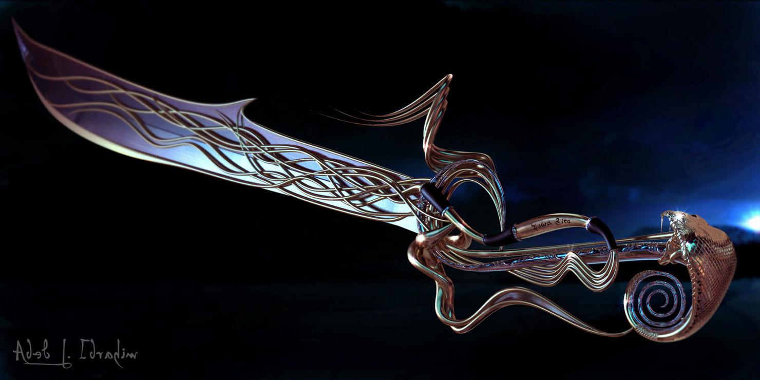 3d model cobra sword