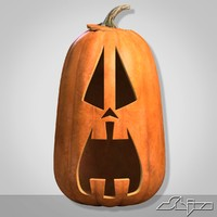 halloween pumpkin head scared 3ds