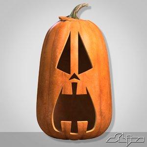 halloween pumpkin head scared 3ds