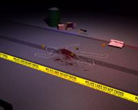 crime scene 3d model